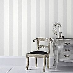 Graham & Brown Gray Calico Stripe Removable Wallpaper - The Home Depot Striped Wallpaper Gray, Textured Wallpaper, Metallic Wallpaper, Morris, Home Wallpaper, Pearl Wallpaper, Sparkle Wallpaper, Wallpaper Online, Home