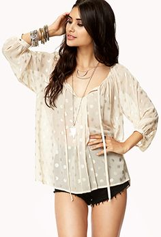 Metallic Polka Dot Top | FOREVER21 $20