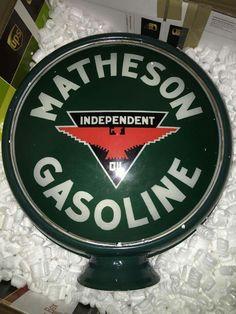 Rare Matheson Independent Gas Globe