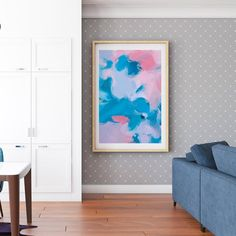 Cecily Paper Print in living room. art by Parima Studio
