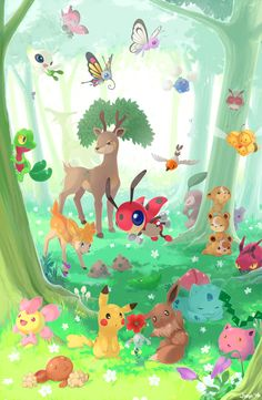 Forest Pokemon by Jiayi.deviantart.com on @DeviantArt