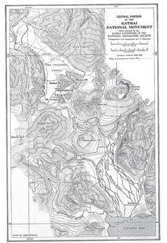 This historical map from the National Geographic Societies expeditions into the Katmai region was first published in Katmai National Park, National Parks, National Geographic Society, Jet Plane, Historical Maps