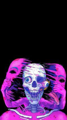 Arte Pop, Art And Illustration, Dark Fantasy Art, Arte Inspo, Trippy Pictures, Psychadelic Art, Psychedelic Drawings, Trippy Wallpaper, Crazy Wallpaper