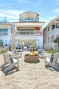 California Beach House with Crisp White Coastal Interiors. Just fine for a proud beach house dad and his family. Beach Cottage Style, Coastal Cottage, Coastal Homes, Beach House Decor, Beach Homes, House On The Beach, Coastal Style, Beach House Plans, Coastal Interior