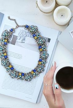 Gem Filled Statement Necklace 39,90 € #happinessbtq