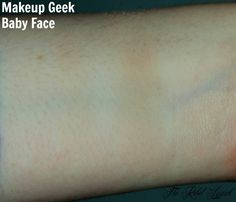 Makeup Geek Eyeshadow Baby Face Swatch  One swipe versus built up  Full review on http://therebellipstick.com