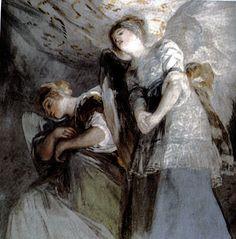 """""""Ángelas"""" - Frescos de San Antonio de la Florida (Goya)"""