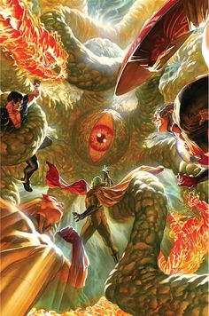 Capitán América  and Invaders Alex Ross - Universo Marvel