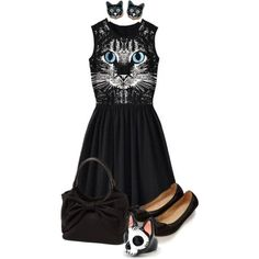"""""""cat obsessed"""" by heather-ann-althouse on Polyvore"""