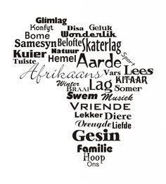 Africa in Words wall sticker - Vinyl Art SA
