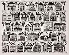 Miriam Rudolph - Newsletter: Linocut for Steamroller Festival Linolium, Linoprint, Wood Engraving, Tampons, Linocut Prints, Art Design, Art Plastique, Woodblock Print, Kitsch