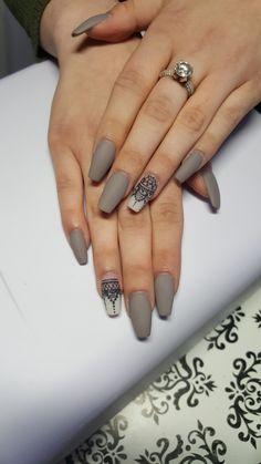 Acrylic nails and matte nails 45 Glow Nails, Matte Nails, Henna Nails, Nail Piercing, Gothic Nails, Nails Only, Nail Ring, Best Acrylic Nails, Square Nails