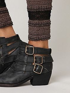 Jeffrey Campbell Buckle Back Ankle Boot via free people. I kinda love these.