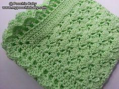 PATTERN One Skein Baby Blanket Crochet Pattern by PoochieBaby