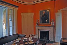 savannah dining room restored to original orange color . via john.fisch on flickr