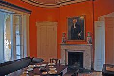 savannah dining room restored to original orange color . via john.fisch on flickr