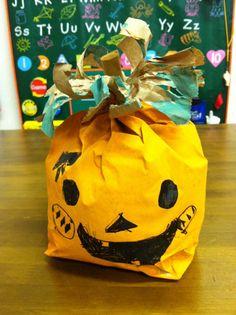 paperbag jack-o-lantern