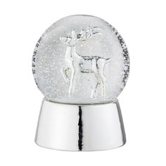 CHRISTMAS 2017: Porcelain silver snow globe <3 Design by Bloomingville