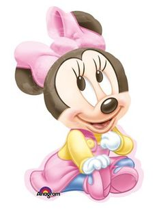 Baby Mickey and Minnie Mouse   MINNIE MOUSE Baby GIRL 1st #1 Birthday PARTY Shower Mylar BALLOON ...