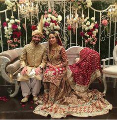 Pakistani Bride And Groom ♡ ❤ ♡ Pakistani Wedding Dress, Pakistani Style. Follow me here MrZeshan Sadiq