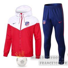 27c44b73189dc Maillot De Foot Nike Ensemble Coupe Vent Atlético Madrid 18-19 Rouge Bleu