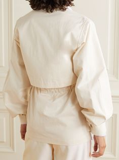 Cream Belted cotton-twill jacket | Deveaux | NET-A-PORTER Savile Row, Long Ties, Utility Jacket, Proenza Schouler, Drawstring Waist, The Row, Belt, Cream, Shorts