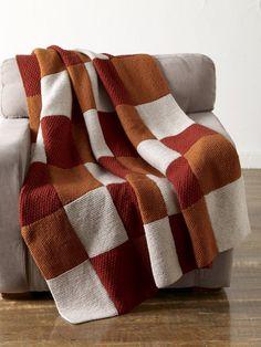 Free Knitting Pattern Warm Up America Blanket : Lion Brand Yarn Company Easy Knit Blanket, Patchwork Blanket, Square Blanket, Knit Blanket Squares, Knitting Patterns Free, Free Knitting, Baby Knitting, Free Pattern, Knit Patterns