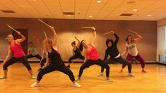 """Amazing dance fitness workout routine with fitness drumming to """"Kill of the Night"""" by Gin Wigmore! Squats, lunges, plies and lots of upper body work targetin. Cardio Drumming, Plus Fitness, Night Workout, Dance Routines, Workout Videos, Workouts, Lets Dance, Upper Body, No Equipment Workout"""
