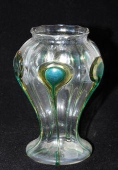 Harrach Peacock Vase