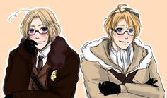 Hetalia ~ Canada and America. Funny story: while I was scrolling down I glanced at the picture and almost continued on my happy way. Then I did a double take and stared at the photo, unable to understand what was wrong with it. I figured it out after about 3 minutes of staring intently.