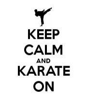 KEEP CALM AND KARATE ON poster.