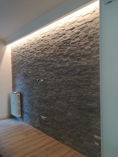 Wall, Gas Fireplace Ideas Living Rooms, Lighting, Gas Fireplace, Stone Wall, Home Decor, Wall Paneling, Fireplace, Exterior