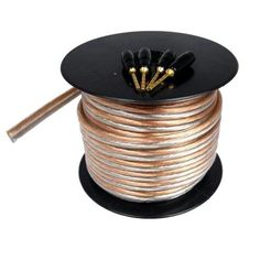 Cables Unlimited AUD-5610-50 14AWG Speaker Wire with Pins (50 Feet) by Cables Unlimited. $28.95. Get superior sound from allyour audio components and high endhome theater systemswith Cables Unlimited's Pro A/VSeriesspeakercables. These high performance, 14AWG cables, with 99.99% pure oxygen-free copper conductors deliver a wide, dynamic range with deep bass and smooth high frequencies. Precision-machined 24k gold-platedpinsguarantee atight, secur...