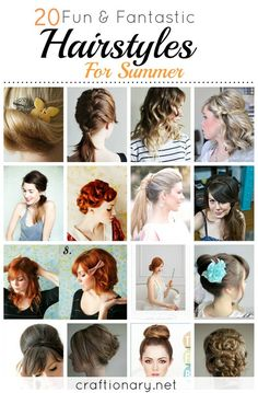 20 Hairstyles. Amazingly easy to do and perfect for Holidays.. #hairstyles