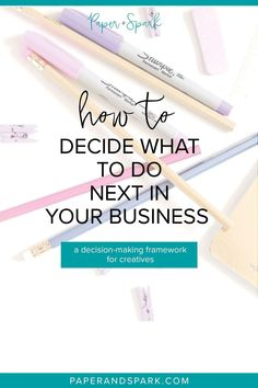 When running your online business and handmade shop, it can be hard to know what is the next best thing you should be doing. In this post, I will show you how to know what to work on next by using my simple framework. Read more on the blog at Paperandspark.com