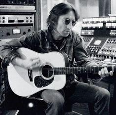 John Lennon in the studio