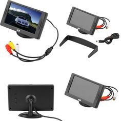"""2016 New Arrival Classic Style 4.3"""" TFT LCD Rearview Car Monitors for DVD  Reverse Backup Camera Vehicle driving accessories"""