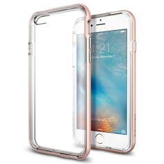 Spigen® [Neo Hybrid EX] PREMIUM BUMPER [Rose Gold] Clear TPU / PC Frame Slim Dual Layer Premium Case for iPhone 6s