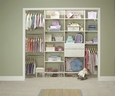 open closet.....I wish the kids closets looked like that