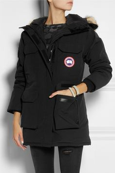 Canada Goose | Expedition coyote-trimmed down coat | NET-A-PORTER.COM