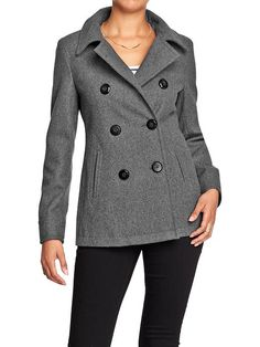 Women's Wool-Blend Peacoats Product Image