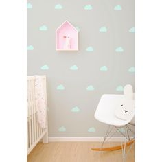 Wall Vinyl Stickers - Pastel Mint Cloud – baby company