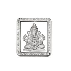 Jpearls Lord Ganesha Sliver Coin, Silver Coin of Ganesh in 10 Grams, Religious coins