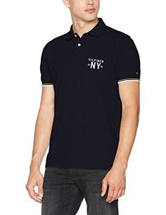 263dba05 Tommy Hilfiger Men's Dee Tipped S/S RF Polo Shirt: Amazon.co.uk: Clothing