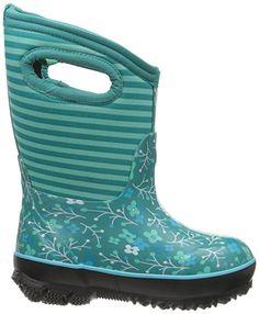 Amazon.com | Bogs Kids Classic Flower Stripes Winter Snow Boot | Boots