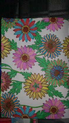 Kleurplaat bloemen, kleurboek Action