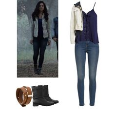 Hayden Romero - tw / teen wolf by shadyannon on Polyvore featuring Sans Souci, Free People, Madewell and Maison Margiela
