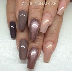 Ombre nails for fall 2017/2018