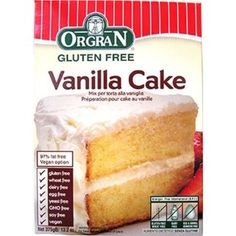 Orgran Gluten Free Vanilla Cake Mix 132 oz >>> You can find more details by visiting the image link. (This is an affiliate link) Gluten Free Yellow Cake Mix, Gluten Free Vanilla Cake, Vanilla Cake Mixes, Baby Food Recipes, Gourmet Recipes, Snack Recipes, Fat Free Vegan, Dairy Free, Sin Gluten