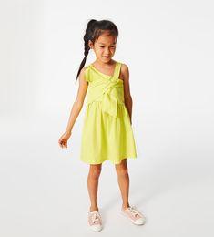 ZARA - KIDS - POPLIN DRESS WITH KNOT DETAIL